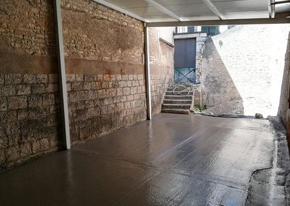 dalle beton la cuverie